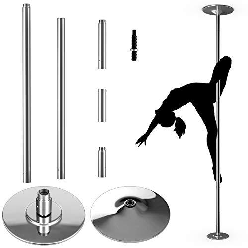COSTWAY Profi Tanzstange | 45 mm Pole Dance Stange | Strip Stange static &...
