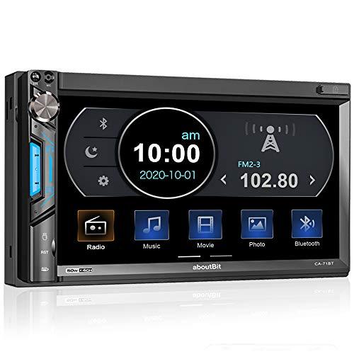 2 DIN Autoradio mit Mirrorlink für iOS/Android, Bluetooth MP5 Multimedia Car...