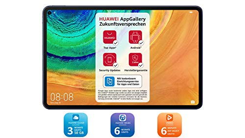 HUAWEI MatePad Pro Wifi Tablet-PC, 10,8 Zoll 2.5K FullView Display, Kirin 990, Huawei Share, Wireless Charging, 4 Speaker, Android 10.0, 6 GB RAM, 128...