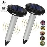 Xins-Yonha Solar Maulwurfabwehr,Solar Ultrasonic Tiervertreiber Maulwurfschreck mit Vibrations mit IP65 Wasserdicht für Den Garten...