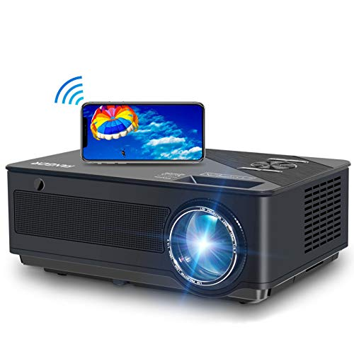 Beamer, FANGOR 2020 Native 1080P Full HD Beamer, WiFi Bluetooth Beamer support...