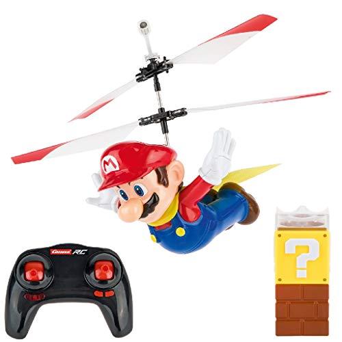 Carrera RC Super Mario - Flying Cape Mario – Ferngesteuerter Hubschrauber für drinnen & draußen – Elektro-Helikopter inkl. Ersatz-Rotorblätter...