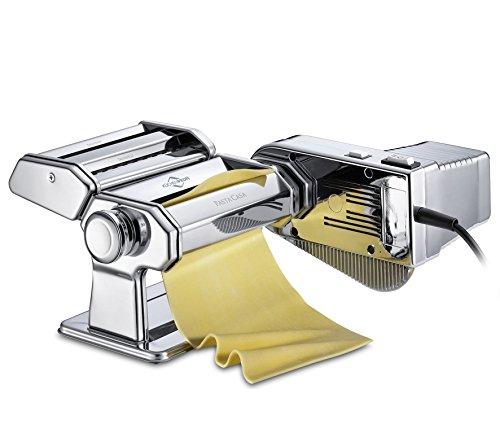 Küchenprofi Set Motor PASTACASA Nudelmaschine, Edelstahl, Silber, 31 x 24.5 x...