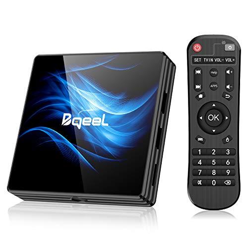 Bqeel Android 10.0 TV Box【4G+64G】 R2 MAX Android TV Box mit RK3318 Quad-Core 64bit Cortex-A53/ unterstützt WiFi 2.4G/5.0G /Bluetooth 4.0/ 4K/HD/...