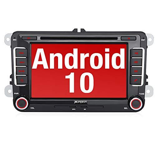 PUMPKIN Android 10 Autoradio für VW Radio mit Navi Unterstützt Bluetooth DAB +...