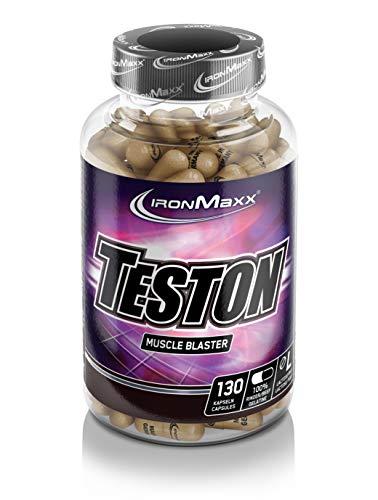 IronMaxx Teston Muscle Blaster - Капсулы с L-аргинином и макой для нормального уровня тестостерона в крови - Идеально для спортсменов - 1 x 130 ...