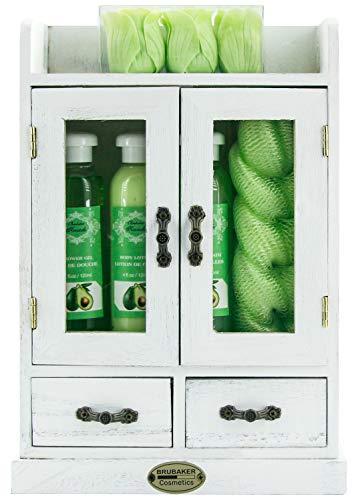 BRUBAKER Cosmetics - 10-teiliges Bade- und Pflege Set Geschenkset - Avocado - im...