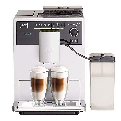 Melitta Caffeo CI E970-101 Kaffeevollautomat   mit Milchbehälter   Zweikammern-Bohnenbehälter   One Touch Funktion   15 Bar   Automatische...