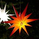 Weihnachtsstern rot Ø 50 cm mit 11 Zacken LED-Birne...