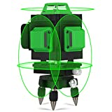 Láser de línea cruzada verde 25M, Kraumi 4 X 360 ° Profesional ...