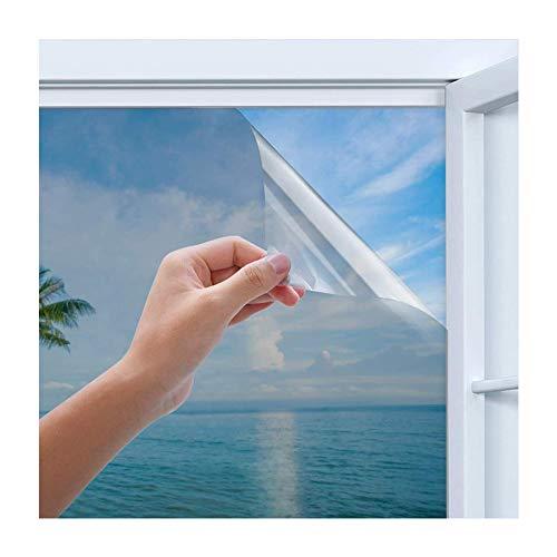 Rhodesy Spiegelfolie Selbstklebend, Homegoo One Way Silber Reflektierende Fensterfolie, UV-Schutz Sonnenschutz, Sichtschutz Glas-Tönungsaufkleber, 90...