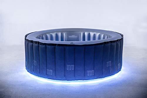 Miweba MSpa aufblasbarer Whirlpool Starry D-ST04 Outdoor – inkl. LED – für 4 Personen - 118 Düsen - 180 x 70 cm - Tüv GS geprüft - 700 Liter -...