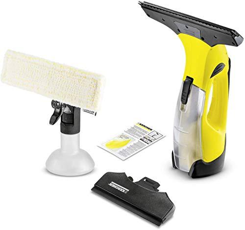Kärcher Akku Fenstersauger WV 5 Premium (Akkulaufzeit: 35 min, entnehmbarer Akku, 2 Absaugdüsen - schmal/breit, Sprühflasche mit Mikrofaserbezug,...