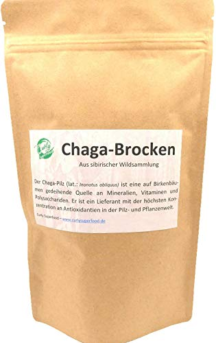 Curly Superfood - Chaga-Brocken aus sibirischer Wildsammlung (250g) | Reicht...