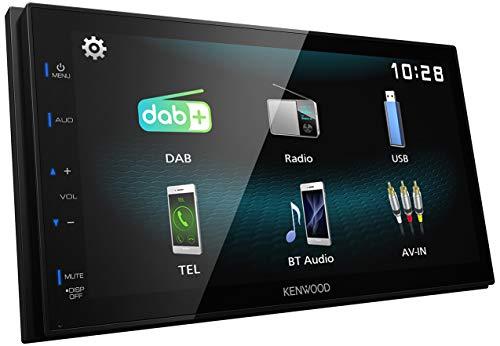 Kenwood DMX125DAB 17,3 cm WVGA Digital Media Receiver mit DAB+, Bluetooth und...