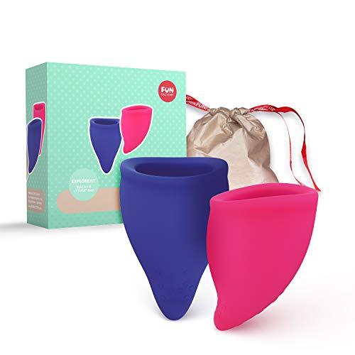 Fun Factory FUN CUP Explore Kit - Ergonomische Menstruationstassen - Designt...