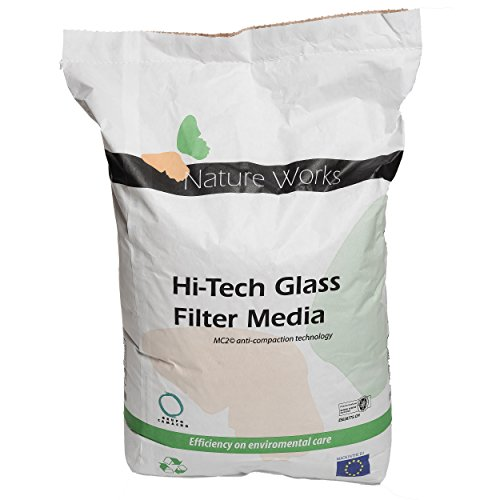 Nature Works Hi-Tech Filterglas (20 kg) für Pool-Sandfilteranlagen, aus...