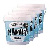 ManiLife pindakaas 4kg - pindakaas - geheel natuurlijk, één groeigebied, zonder toegevoegde suikers, zonder ...