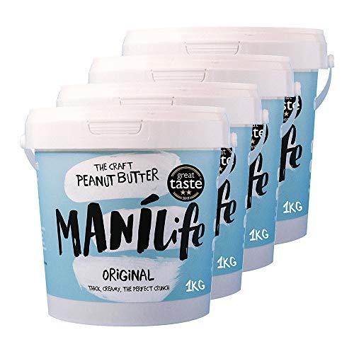 ManiLife Erdnussbutter 4kg - Peanut Butter - Alles Natürlich, ein Anbaugebiet,...