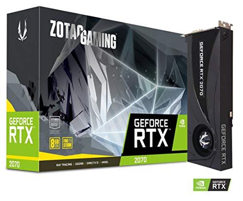 ZOTAC GAMING GeForce RTX 2070 Blower Grafikkarte (NVIDIA RTX 2070, 8GB GDDDR6, 256bit, Boost-Takt 1620 MHz, 14 Gbps)