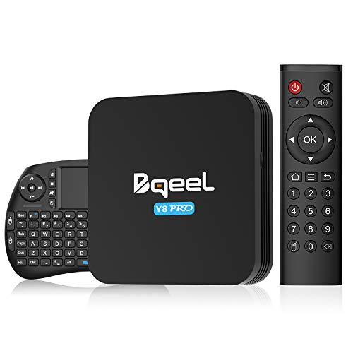 Bqeel Android TV -laatikko Y8 PRO 【4GB + 32GB】 Älykäs TV-ruutu näppäimistöllä / Amlogic S905X3 64-bittinen neliydin / tukee 4K / H.265 / WiFi 2.4G / 5G / USB3.0 ...