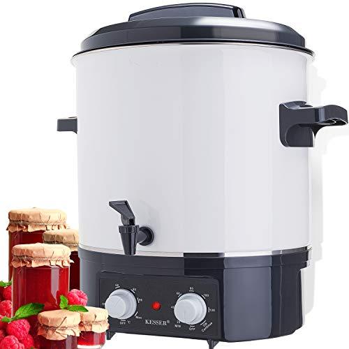 KESSER Einkochautomat 27 Liter Glühweinkocher Glühweinkessel mit Timer   1800 Watt   Temperatur von 30-100°C   Zeituhr bis 120 Minuten  ...