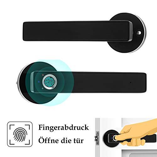 OWSOO Biometrisches Fingerabdruck Türschloss, Smart Türverriegelung, Halbleiter Fingerabdrucksperre, Intelligente Türverriegelung Edelstahl...