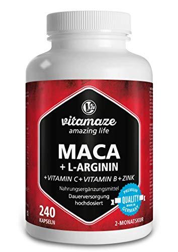 Maca Kapseln hochdosiert 4000 mg + L-Arginin + Vitamine...