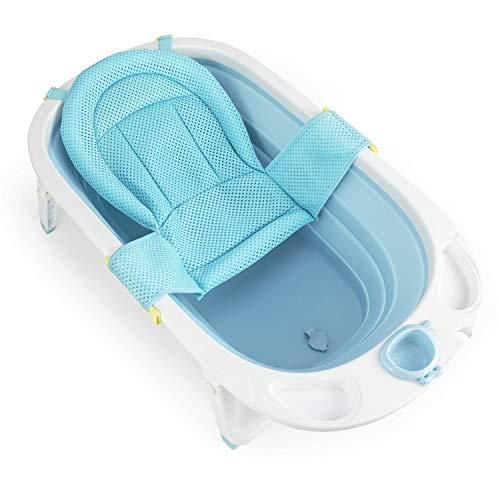 Fascol Faltbar Babybadewanne, Kinderbadewanne mit Sicherheitsbadesitz und...