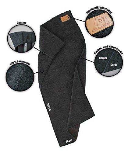 ATHLETIC INDUSTRIES Sporthandtuch/Fitnesshandtuch ST0 für das Fitnessstudio/mit Überzug/Antirutschfunktion / 100% Baumwolle / !!!...