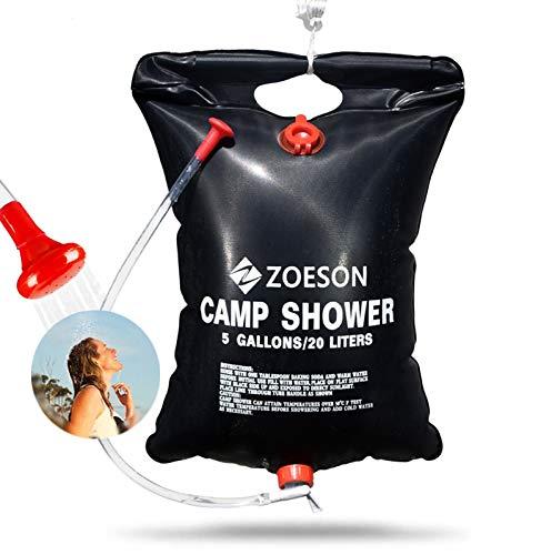zoeson 20L Solardusche Camping, Outdoor Dusche, Campingdusche Solar, Leicht