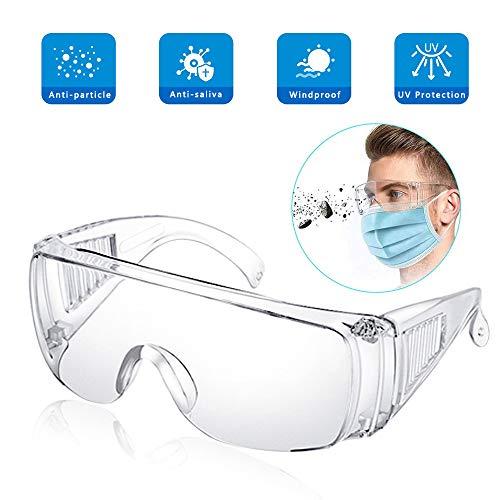 EPODA Schutzbrille Vollsichtbrille Überbrille Schleifbrille für Brillenträger | 1 St. | Transparent