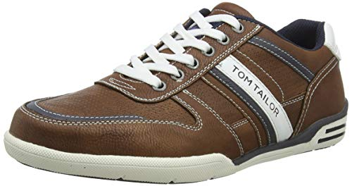 TOM TAILOR 6982903 heren sneakers, bruin (Cognac 00205), 43 ...