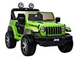 fit4form children's electric car Jeep Wrangler Rubicon Green 12V children's vehicle children's car electric