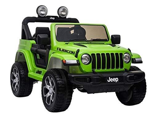 Lean Kinder Elektroauto Jeep Wrangler Rubicon Green 12V Kinderfahrzeug...