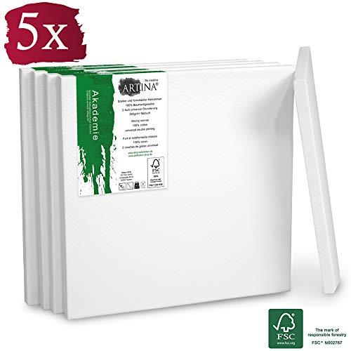 Artina FSC Keilrahmen 14er Set Akademie 13x18 cm Leinwand Set 24x30 30x40 cm 100/% Baumwolle 280g//m/² 50x70