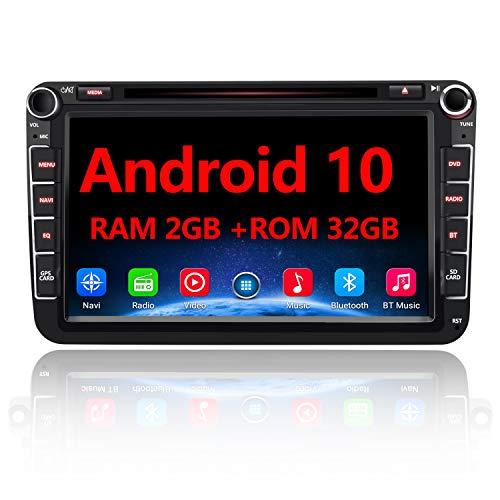AWESAFE Android 10 Autoradio für VW Skoda Seat, 2 DIN 8 Zoll Touchscreen DAB+...