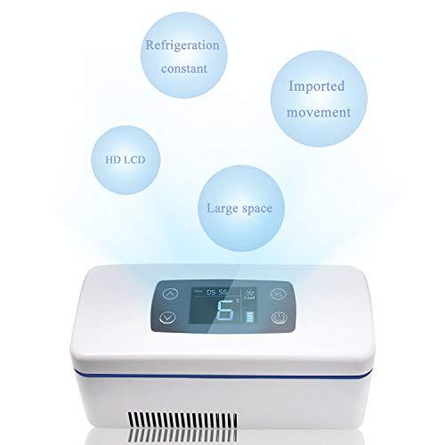 CGOLDENWALL 12Stunden Tragbare Insulin Kühlbox für Medikamente Mini Intelligente Elektrische Kühlschrank Kühltasche Thermostat unter 26 ° C mit...