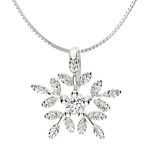 MYA art Winter Halskette Kette 925 Sterling Silber...