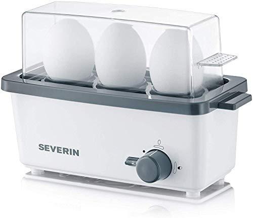 SEVERIN EK 3161 Eierkocher (Inkl. Wasser-Messbecher mit Eierstecher, 3 Eier,...