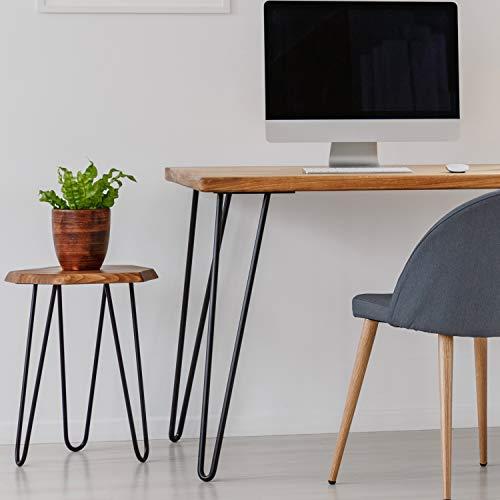 Rohstahl mit Klarlack HLT-03-F-BB-0000 x-f/örmiges Tischgestell 40x43 cm HOLZBRINK Tischkufen X-Form aus Vierkantprofilen 40x40 mm