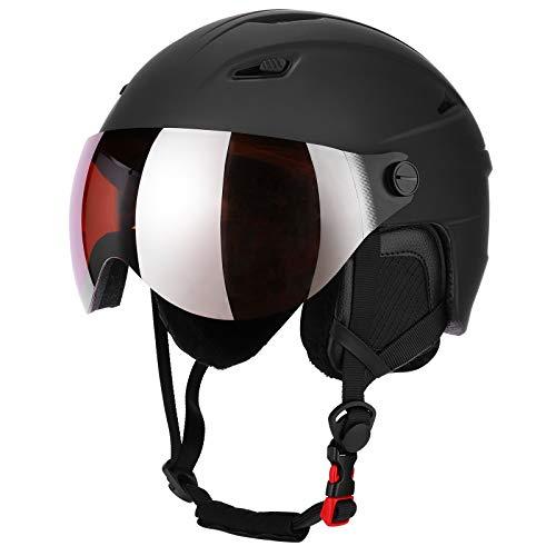 Skihelm Snowboard Helm Unisex Ski Helmet mit Visier Erwachsene Skihelm Herren...