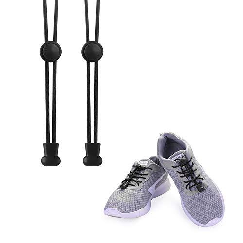KATELUO Elastische Schnürsenkel mit Schnellverschluss Schnellschnürsystem ohne Binden für einzigartigen Komfort, perfekten Sitz und starken Halt...
