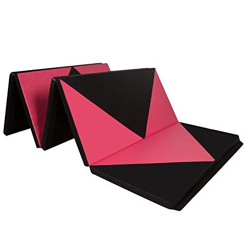 CCLIFE 300x118x5cm Klappbare Weichbodenmatte Turnmatte Fitnessmatte Gymnastikmatte rutschfeste Sportmatte Spielmatte, Farbe:Schwarz&Rot Raute...