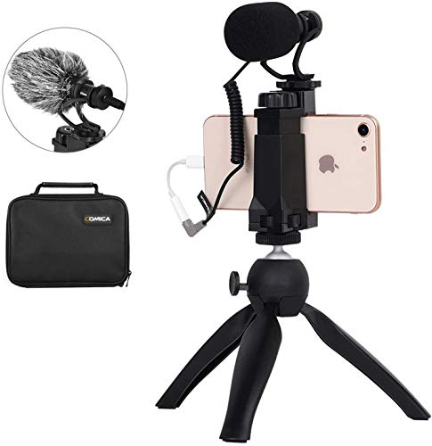 Comica Smartphone Video Kit - CVM-Vm10-K2 - Filmmaker Mini Stativ mit Shotgun...