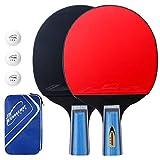 Комплект ракеток для настольного тенниса EXTSUD, 2 ракетки для настольного тенниса с ...