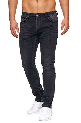 Tazzio Slim Fit Herren Styler Look Stretch Jeans Hose Denim 16533 Schwarz 29/34