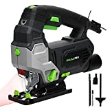 GALAX PRO electric jigsaws with laser guidance 3000 RPM 800W with 6 variable speed, 0-4 ...