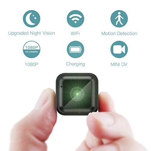Mini Kamera,CACAGOO 1080P Mini Überwachungskamera mit Bewegungsmelder und Speicher, Fotografieren für Heim und Büro Sicherheit