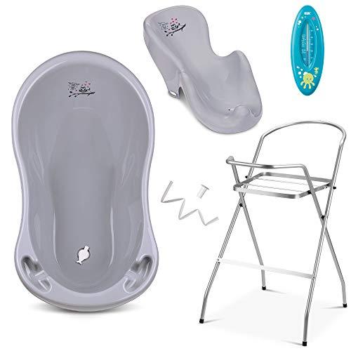 Baby Badewanne mit Gestell und Badewannensitz - Verschiedene Sets für...